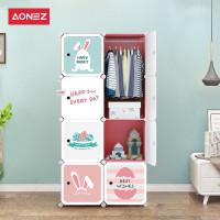Aonez Lemari Pakaian Plastik / Wardrobe 8 Muka 5 Slot 1 Gantungan