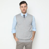 Sweater Rajut Pria - Vest/Rompi SOFT GREY