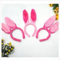 HB49 bando model telinga kelinci pink anak perempuan balita toddler ki