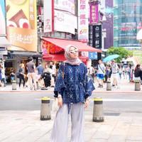 Pakain wanita terbaru baju tenun batwing etnik - XXXL