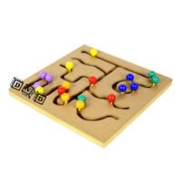 Mainan Edukatif / Edukasi Anak - Balok Kayu - Maze Bentuk Bola Shapes