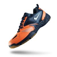 Sepatu Eagle Neptunes Orange Biru Tua - Badminton Shoes - ORANGE BIRU TUA, 38