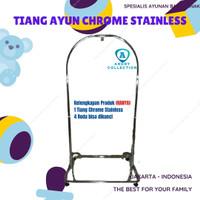 Rangka tiang ayunan bayi chrome stainless perlengkapan baby