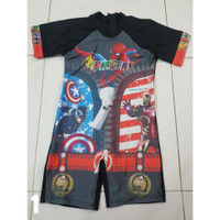 Baju Renang Diving Anak SD Karakter Spiderman/ Avengers/ Cars - M