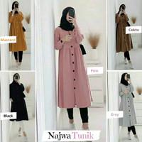 Atasan Wanita   Najwa Tunik   Blouse Muslim   Size S M L XL XXL XXXL