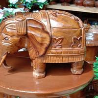 Asbak kayu +jati+ ukiran bentuk gajah