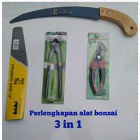 paket perlengkapan alat bonsai gergaji , gunting dahan dan catut