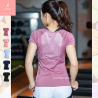 Baju Olahraga Wanita Lengan Pendek Kaos Tshirt Dry Fit Yoga Running