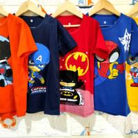kaos anak laki-laki karakter superhero 0-8th / baju anak / kaos anak - 9-12 bulan, RANDOM