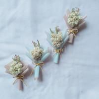 Mini Buket Bunga Edelweis Dried Flower Bouquet Wisuda Ultah Anniv