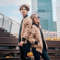Jaket Bomber Batik Pria & Wanita Multifungsi (Casual- Formal)- Cream