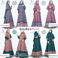Set Gamis   Azzahra Syari + Jilbab   Khimar   Size S M L XL XXL XXXL - S