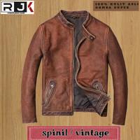 jaket kulit pria asli garut genuine leather spinil premium