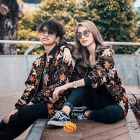 Jaket Bomber Batik Pria & Wanita Multifungsi (Casual - Formal) - Black