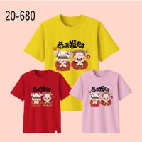 Kaos Imlek Bayi Anak Remaja Dewasa Oversize Family/Baju Kaos Sincia 17