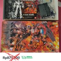 [BANDAI] MG Unicorn Gundam HD Color + MS Cage Semi Rakit