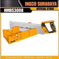 INGCO HMBS3008 MITRE BOX AND BACK SAW SET GERGAJI KAYU FIGURA PIGURA