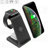 AICNLY Fast Wireless Charger Dock 3 in 1 Smartphone Airpods Apple Watc