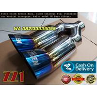 Knalpot Mobil 5Zigen Double HD Blue Full Steinless (Type ZZ1)