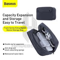 BASEUS Track Travel Kit Storage Bag Powerbank Kabel Charger Dompet HP