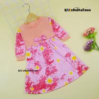 Dress Eliza Uk 1-4 Tahun / Long dress Anak Perempuan Lengan Panjang - 1-2 tahun