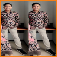 Batik Kebaya Couple Keluarga Modern Baju Kondangan Lamaran Tunangan - kemeja batik