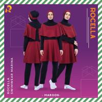 Swimwear Marina by Rocella | Baju Renang Wanita | Setelan Muslimah - Maroon, S-M