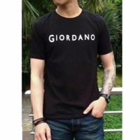kaos ori Giordano all size - Hitam, All Size