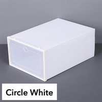 Kotak Sepatu Lipat / Box Sepatu Lipat / Rak Sepatu Kotak Transparan