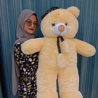 boneka teddy bear syal jumbo 80cm murah teddybear beruang panda lucu