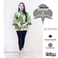 fillea Ronroyo ijo blouse batik baju kerja modis murah solo alusan
