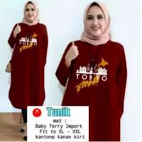 Atasan Tunik Muslim TOKYO/Tunik Terbaru/Baju Tunik Dewasa/Tunik Remaja - Maroon