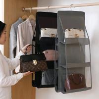 TS Rak Gantung Tas 6 Sekat / Gantungan Tas / Bag Storage / Bag Organiz