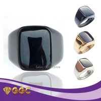 Batu Cincin Kerren Black Onyx / Ring Kotak Stainless Steel