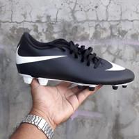 Sepatu Sepak Bola Nike Bravata FG Original Black White