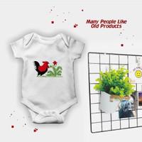 Pakaian Baju Jumper Bayi Gambar Ayam Jago Lucu Murah