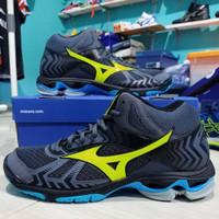 Sepatu Voli Volly Volley Mizuno Wave Bolt 7 Bold 7 Mid Blue Original
