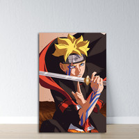 Hiasan Dinding Boruto / Wall Decor Anime/ Poster kayu Boruto 001