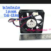 FAN12.VDC/0,30.A(BRUSHLESS(7.cm x 7.cm) BealbearingDelta Electronic.