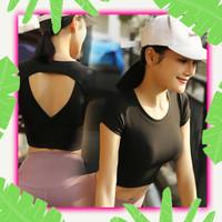 Atasan Senam Wanita Gym Aerobik Zumba Yoga Ketat Baju Olahraga Cewek