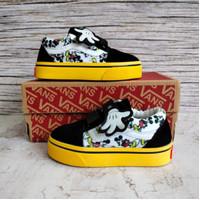 Sepatu Anak Vans Kids Perempuan Mickey Black White Grade Original
