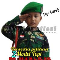 baju profesi anak tentara TNI seragam kostum karnaval abri ukari