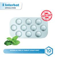 Interlac Pro D Lozenges Tablet Hisap Mint - Strip 10 Tablet