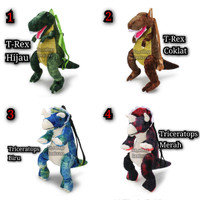 Tas Karakter Dino / Tas Dinosaurus / Tas Ransel Anak / Tas Boneka Dino