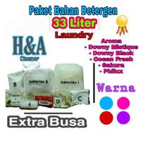 Detergen Laundry Cair   Bahan Detergen Laundry 33 Liter Extra Busa - Biru
