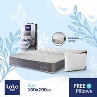 Tote Bed Kasur Pocketed Spring 100 x 200