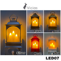 LED07 Lampu Hias Lentera Lilin LED Dekorasi Natal Christmas POLOS