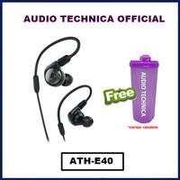 Audio Technica ATH-E40 Professional In-Ear Monitor Headphones Earphone - Hitam