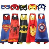 Jubah Topeng Superhero Batman Superman Ironman Spiderman Captain Ameri