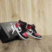 Sepatu Anak kids Nike Air Jordan High Black Red Unisex
